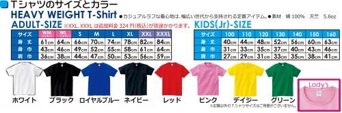 Tシャツのサイズ201710